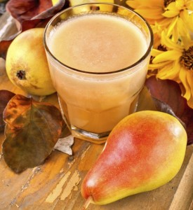 freshly squeezed juice made from organic and healthy pears
