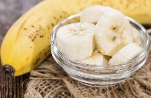 Banana Pieces in a bowl